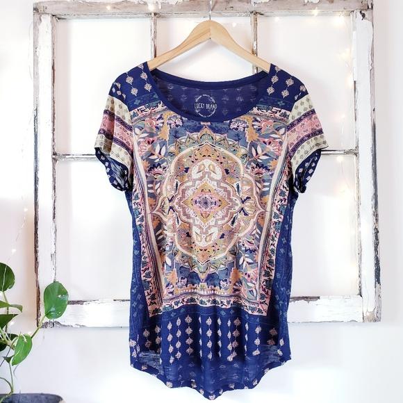 17c31c2369981 Lucky Brand Tops - Lucky Brand • Persian Carpet Tee